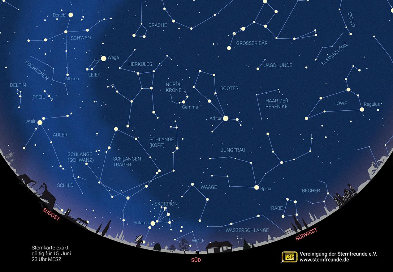 Der Sternenhimmel im Juni 20 – Vereinigung der Sternfreunde e.V.