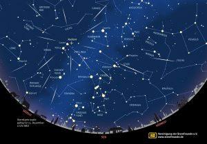 Aufsuchkarte des Radiants der Geminiden