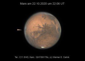 Mars am 22. Oktober 2020