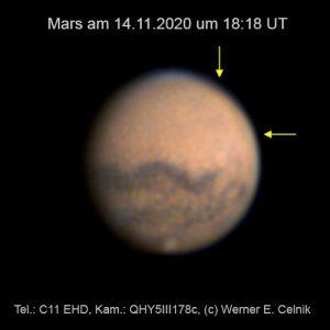 Mars am 17. November 2020